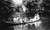 Canoeing on the Neshaminy Creek - The beautiful, idyllic Neshaminy transformed into a roaring flood in 1955 courtesy of Hurricane Diane.  A young woman drowned when her car was swept off street road into the creek.