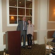 GBMCC Scholarship Committee Co-Chair, Erik Fleischer, with Award Winner