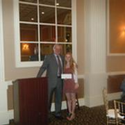 GBMCC Scholarship Committee Co-Chair, Erik Fleisher, with award winner