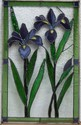 Iris Panel - This 15 x 24 custom Iris design features a wide variety of glass to highlight the natural beauty of the flower.