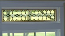 Bluestone Transom window - This 52 x 11 custom window panel was created for a kitchen in a new home in New Jersy. We worked with an interior decorator on this project. You can view the complete kitchen at http://www.deborahleamanninterior.com/portfolio/1c.html