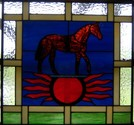 Horse Farm Logo - This piece measures 21.5 x 19.5. We can create any farm or business logo.