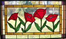 Poppy Flower Transom Panel