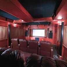 Bloodwood Home Theater with Ebonized Accents - Bloodwood Home Theater with Ebonized Accents