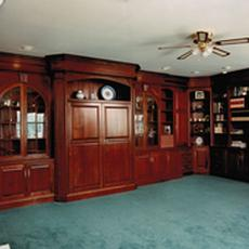 Cherry Cabinetry TV & Library - Cherry Cabinetry TV & Library