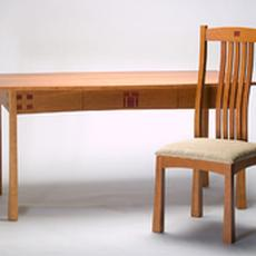 Cherry Dining Table with Chair - Cherry Dining Table with Chair