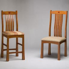 Cherry Chair and Bar Stool - Cherry Chair and Bar Stool