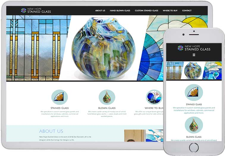 New Hope Stained Glass Website Design