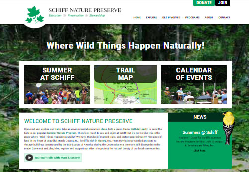 Schiff Natural Lands Trust Website