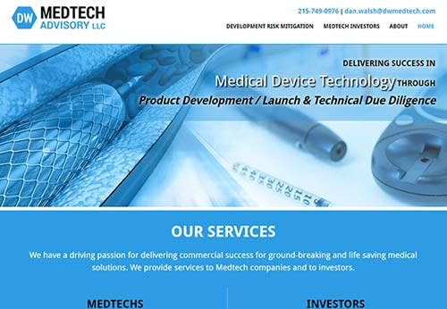 Medical Device Website Company